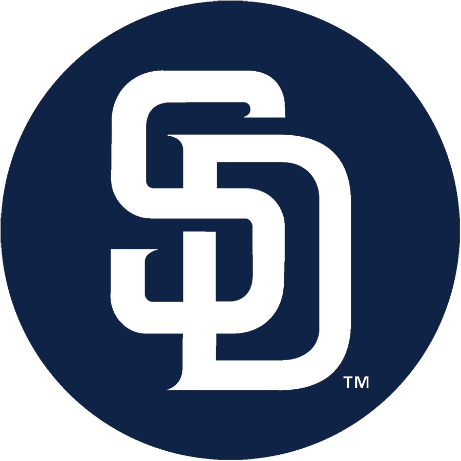 San Diego Padres Logo Alternate Logo (2015-2019) - A white SD inside a navy blue circle, while not officially the primary logo the club uses it as if it were and unofficially considers it their primary mark SportsLogos.Net