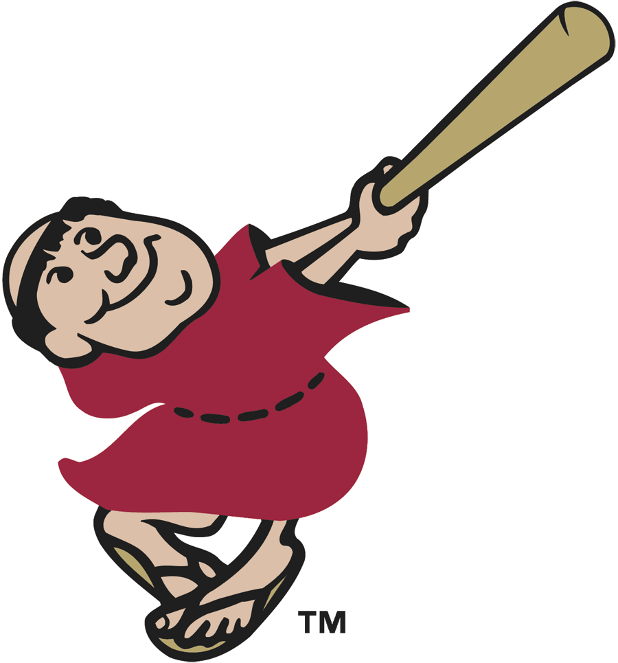 San Diego Padres Logo Alternate Logo (2004-2011) - Swingin Friar logo modernized for 2004, this version similar to one used in 1997-98 except colour of bat has been adjusted SportsLogos.Net