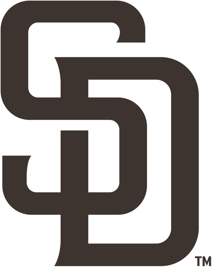 San Diego Padres Logo Primary Logo (2020-Pres) - Interlocked SD in brown. Aside from the colour, the SD was updated slightly from the previous verion - most obvious in the shape of the serifs SportsLogos.Net