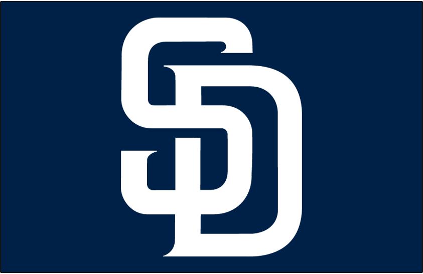 San Diego Padres Logo Jersey Logo (2012-2019) - (Alt) Interlocking SD in white on navy SportsLogos.Net
