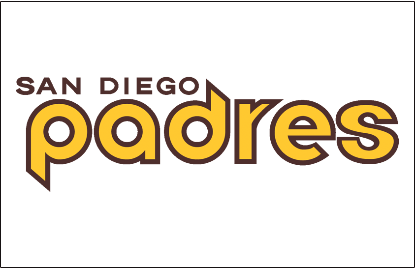 San Diego Padres Logo Jersey Logo (1978) - Padres in yellow and brown, San Diego above, on a white jersey. Worn on Padres home uniform in 1978 only SportsLogos.Net