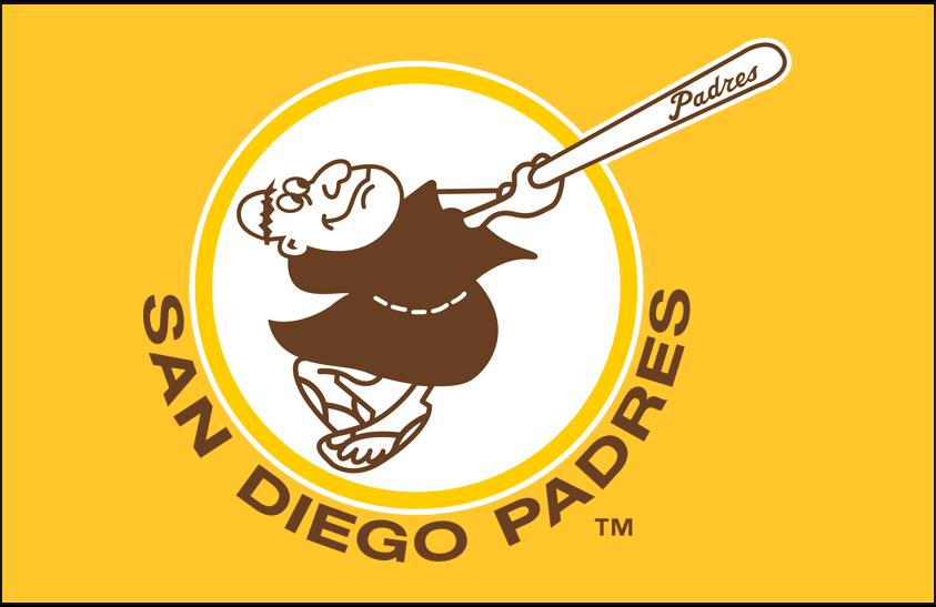 San Diego Padres Logo Primary Dark Logo (1978-1979) - San Diego Padres primary logo on gold SportsLogos.Net