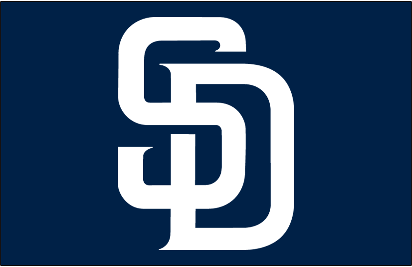 San Diego Padres Logo Cap Logo (2004-2019) - (Home) Interlocking SD in white on navy SportsLogos.Net