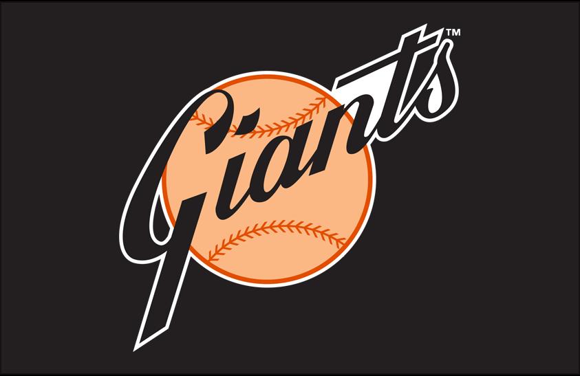 San Francisco Giants Logo Primary Dark Logo (1968-1972) - San Francisco Giants primary logo on black SportsLogos.Net