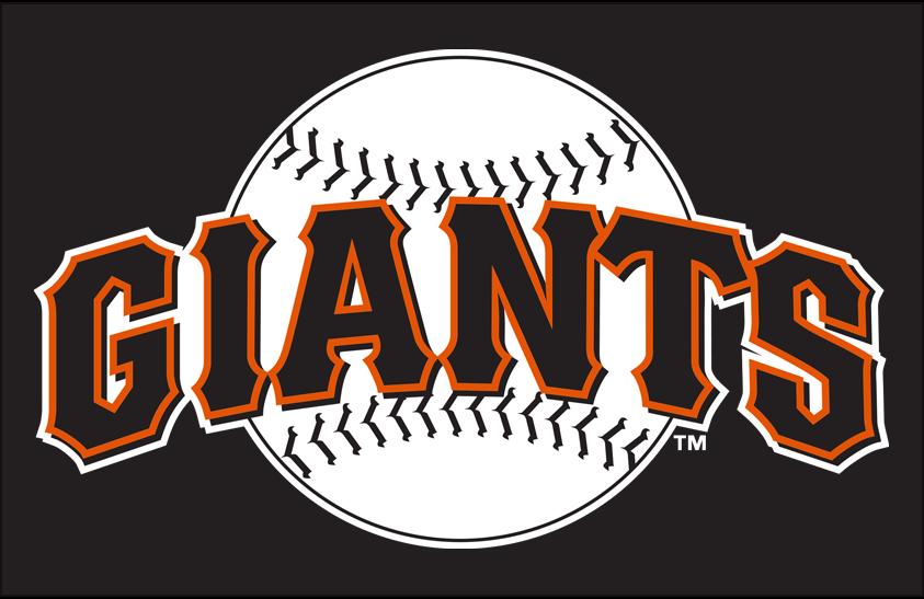 San Francisco Giants Logo Primary Dark Logo (1994-1999) - San Francisco Giants primary logo on black SportsLogos.Net