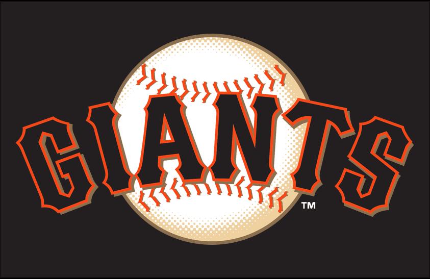 San Francisco Giants Logo Primary Dark Logo (2000-Pres) - San Francisco Giants primary logo on black SportsLogos.Net