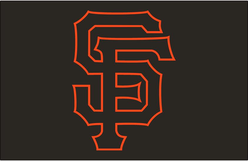 San Francisco Giants Logo Jersey Logo (2015-Pres) - Interlocked SF in black with orange trim on a black jersey, worn on Giants alternate black jersey beginning in 2015 SportsLogos.Net