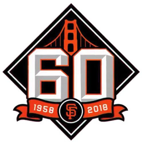 San Francisco Giants Logo Anniversary Logo (2018) - San Francisco Giants 60th anniversary logo SportsLogos.Net