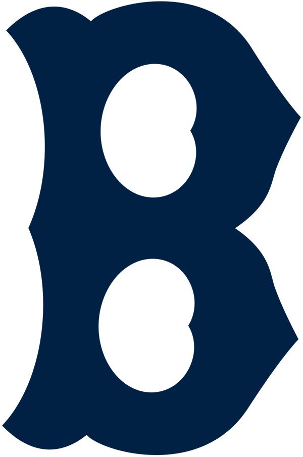 Boston Braves Logo Primary Logo (1925-1928) - An old-fashioned style navy blue 'B' SportsLogos.Net
