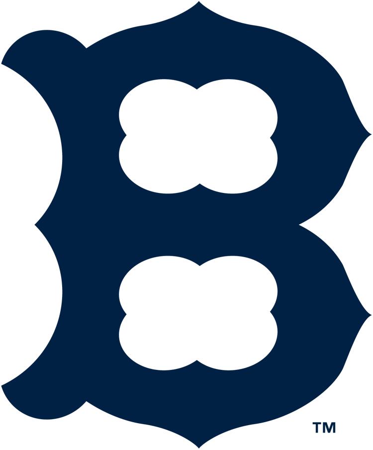 Boston Braves Logo Primary Logo (1921-1924) - A navy blue 'B' SportsLogos.Net
