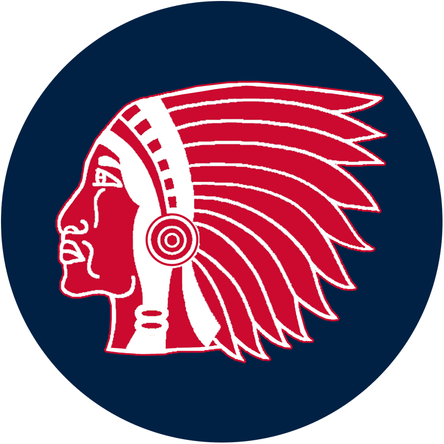 Boston Braves Logo Primary Logo (1916-1920) - Red and white Native American head in sillouette on a blue circle SportsLogos.Net