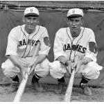 Boston Braves (1933) Pinky Whitney and Hal Lee in the Braves home uniforms during the 1933 season