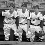 Boston Braves (1948) Boston Braves players wearing their home night game satin uniforms in 1948