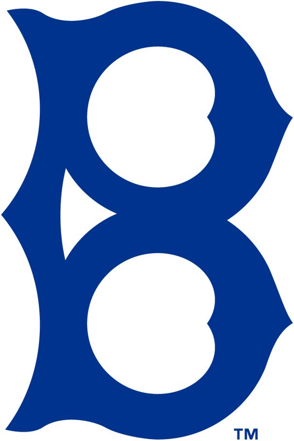Brooklyn Dodgers Logo Primary Logo (1932-1936) - An old fashioned 'B' in navy blue SportsLogos.Net