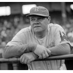 Brooklyn Dodgers (1938) Brooklyn Dodgers coach Babe Ruth wearing Dodgers road uniform with 1939 New York Worlds Fair patch during the 1938 season