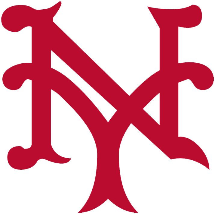 New York Giants Logo Primary Logo (1910) - An interlocking NY, for New York, in red SportsLogos.Net