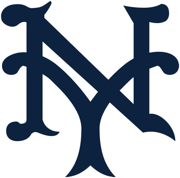 New York Giants Logo Primary Logo (1918-1922) - An interlocking NY, for New York, in blue SportsLogos.Net