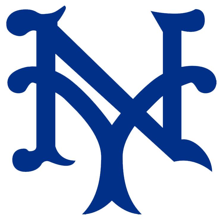 New York Giants Logo Primary Logo (1936-1939) - Interlocking 'NY', for New York in blue with white trim SportsLogos.Net