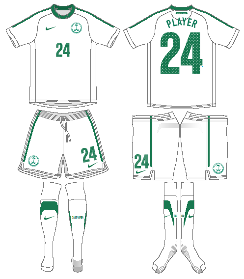 Saudi Arabia Uniform Home Uniform (2011-2012) -  SportsLogos.Net