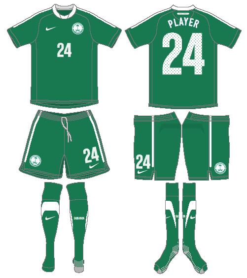 Saudi Arabia Uniform Road Uniform (2011-2012) -  SportsLogos.Net