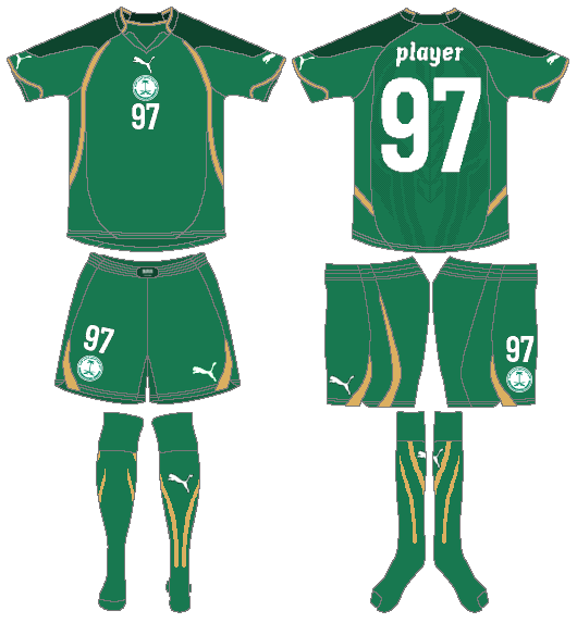 Saudi Arabia Uniform Road Uniform (2010) -  SportsLogos.Net