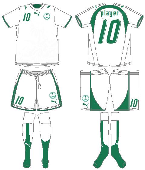 Saudi Arabia Uniform Home Uniform (2006-2008) -  SportsLogos.Net