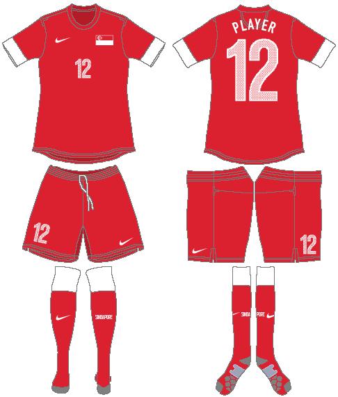 Singapore Uniform Home Uniform (2012-2014) -  SportsLogos.Net