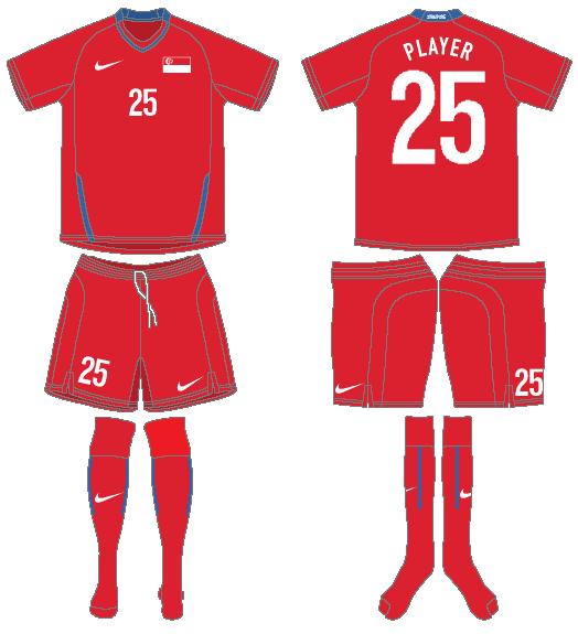 Singapore Uniform Home Uniform (2008-2010) -  SportsLogos.Net