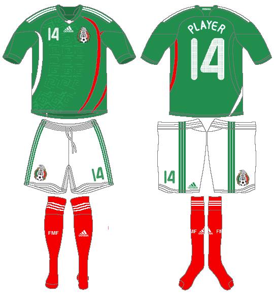 Mexico Uniform Home Uniform (2008-2010) -  SportsLogos.Net