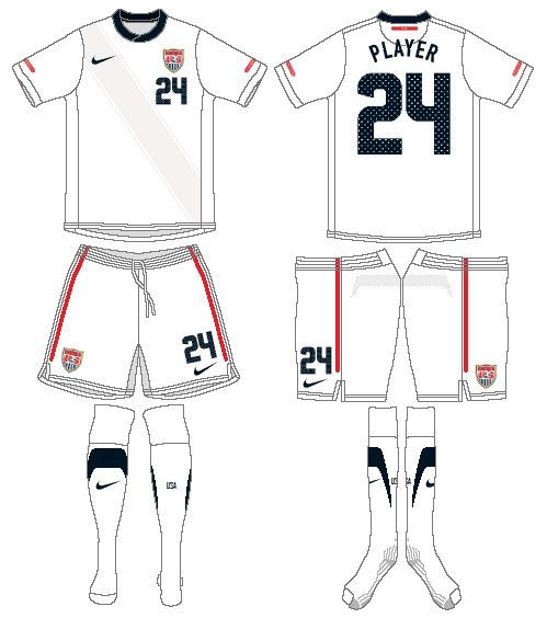 United States Uniform Home Uniform (2010-2012) -  SportsLogos.Net