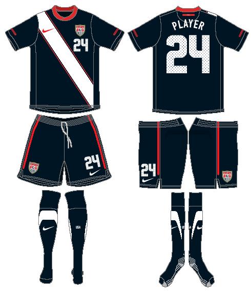 United States Uniform Road Uniform (2010-2011) -  SportsLogos.Net