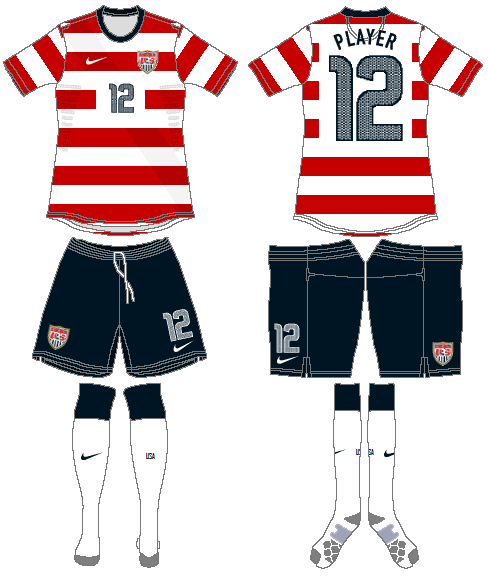 United States Uniform Home Uniform (2012) -  SportsLogos.Net