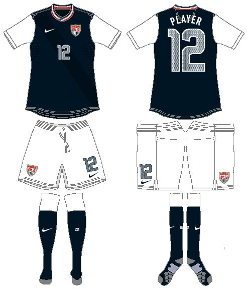 United States Uniform Road Uniform (2012-2014) -  SportsLogos.Net