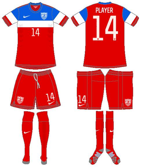 United States Uniform Road Uniform (2014-2015) -  SportsLogos.Net