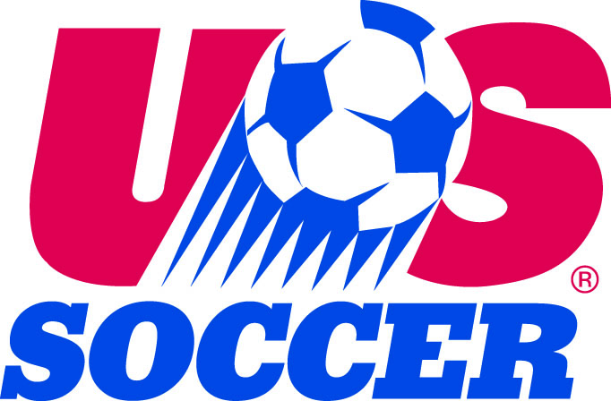 United States Logo Primary Logo (1992-1994) - Red US with streaking soccer ball over blue Soccer SportsLogos.Net
