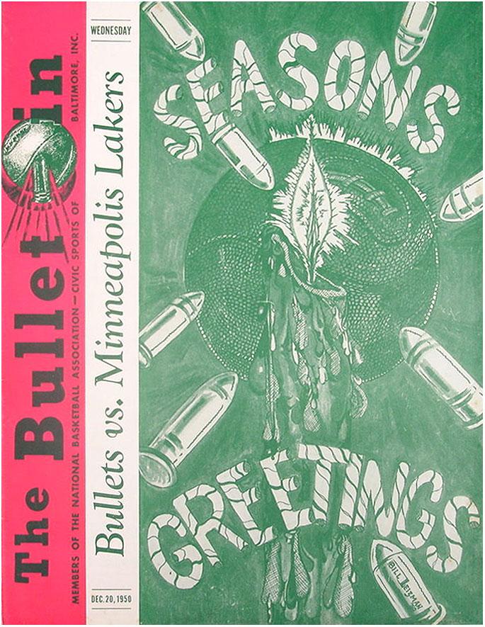 Baltimore Bullets Program Program (1950/51) - Baltimore Bullets Program SportsLogos.Net