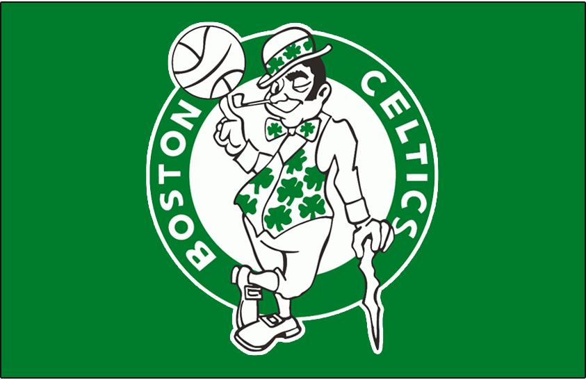 Boston Celtics Logo Primary Dark Logo (1974/75-1995/96) - Boston Celtics logo on green SportsLogos.Net