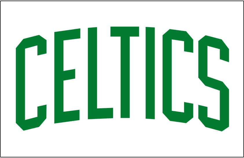 Boston Celtics Logo Jersey Logo (1969/70-Pres) - CELTICS in green letters, arched - worn on the Boston Celtics home jersey SportsLogos.Net