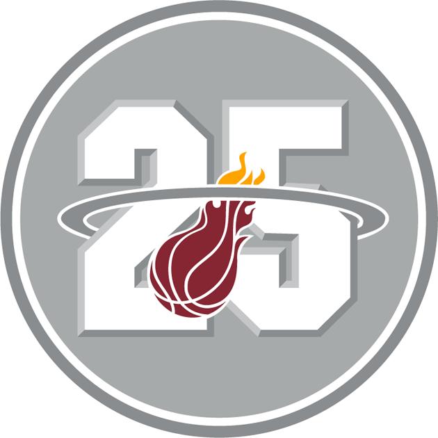Miami Heat Logo Anniversary Logo (2012/13) - Miami Heat 25th Anniversary logo SportsLogos.Net