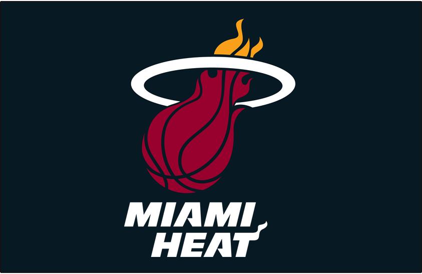 Miami Heat Logo Primary Dark Logo (1999/00-Pres) - Miami Heat logo on black SportsLogos.Net