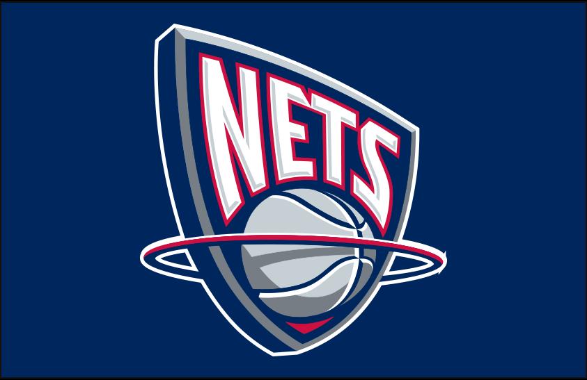New Jersey Nets Logo Primary Dark Logo (1997/98-2011/12) - New Jersey Nets primary logo on navy blue SportsLogos.Net