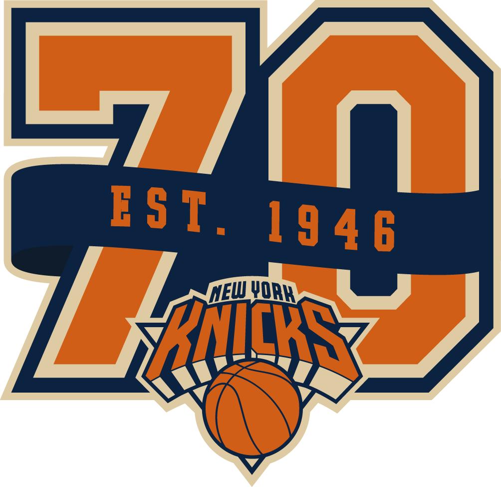 New York Knicks Logo Anniversary Logo (2016/17) -  SportsLogos.Net