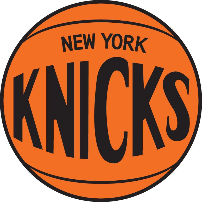 New York Knicks Logo Alternate Logo (1968/69-1975/76) - New York Knicks on a baseketball SportsLogos.Net