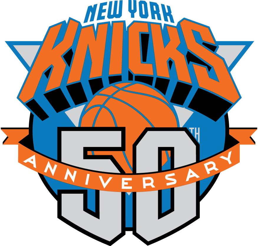 New York Knicks Logo Anniversary Logo (1996/97) - 50th Anniversary of the New York Knickerbockers SportsLogos.Net