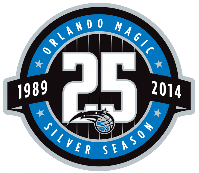 Orlando Magic Logo Anniversary Logo (2013/14) - Orlando Magic 25th anniversary logo SportsLogos.Net