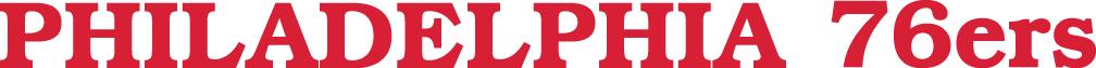 Philadelphia 76ers Logo Wordmark Logo (2015/16-Pres) -  SportsLogos.Net