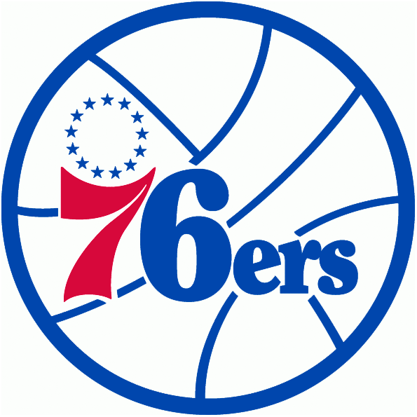 Philadelphia 76ers Logo Alternate Logo (2009/10-2014/15) - For all intensive purposes, this is the primary logo, without the rectangle and city name.  Will be seen more often than designated primary. SportsLogos.Net