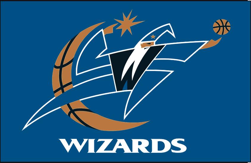 Washington Wizards Logo Primary Dark Logo (1997/98-2006/07) - Primary on Blue SportsLogos.Net