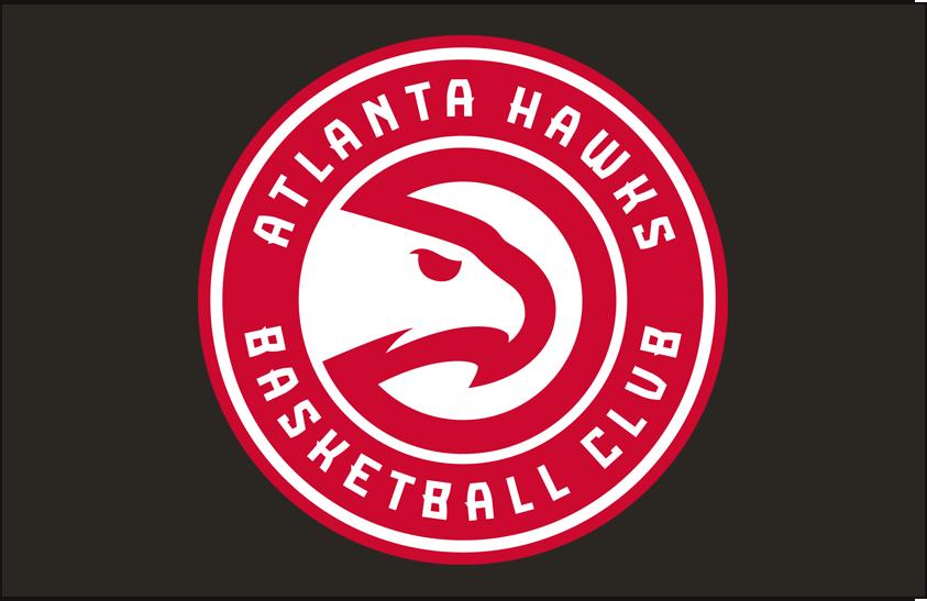 Atlanta Hawks Logo Primary Dark Logo (2015/16-2019/20) - Primary on Black SportsLogos.Net