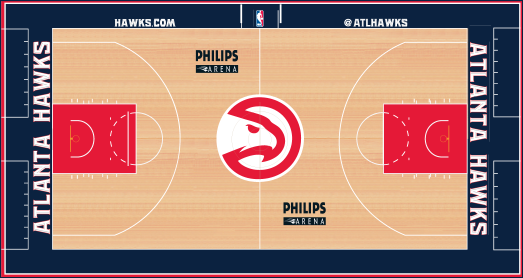 Atlanta Hawks Playing Surface Playing Surface (2014/15) -  SportsLogos.Net